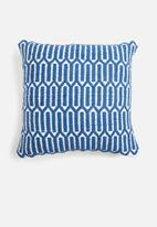 Sixth Floor - Erik woven cushion cover - blue