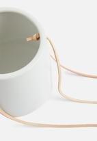 Present Time - Skittle hanging pot ceramic - matte white