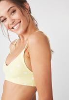 Cotton On - V neck bralette bikini top - yellow