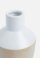 Present Time - Crude pottery vase - ceramic small