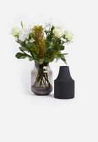Present Time - Gem vase glass - dark grey