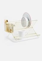 Present Time - Dish rack - gold plated
