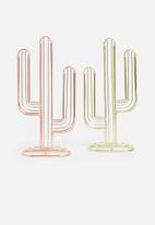 Present Time - Cactus coffee pod holder - gold plated
