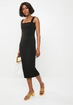 STYLE REPUBLIC - Basic bodycon dress - black
