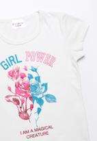 POP CANDY - Girl power printed short sleeve tee - white