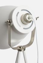 Present Time - Mingle tripod floor lamp - metal white & nickel