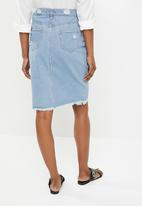 STYLE REPUBLIC - Rip and repair midi skirt - blue