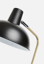 Present Time - Hood desk lamp - metal matte black