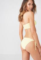 Cotton On - Tie side seamless cheeky bikini bottom - yellow