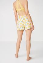 Cotton On - Bedtime fun shortie - yellow