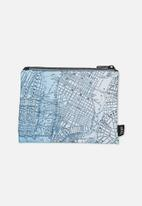 Typo - Campus pencil case - blue map