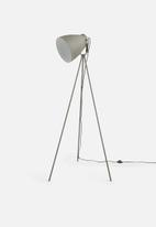 Present Time - Mingle tripod floor lamp - metal grey & nickel