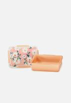 Typo - Rectangular lunch container - pink floral