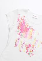 POP CANDY - Pegasus printed short sleeve tee - white