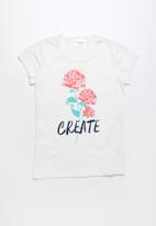 POP CANDY - Create printed short sleeve tee - white