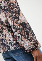 Superbalist - Soft short kimono - navy