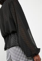 Superbalist - Soft short kimono - black