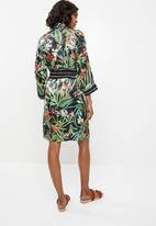 STYLE REPUBLIC - Shirt dress with contrast belt - black floral