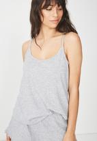 Cotton On - Rib sleep tank top - light grey