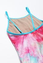 POP CANDY - Rainbow print swimsuit - pink