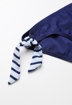 POP CANDY - Printed colour block bikini - navy
