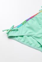 POP CANDY - Striped colour block bikini - green