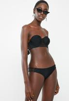 Sissy Boy - Strappy boyleg bikini bottom- black