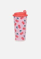 Typo - Printed travel mug - cherry