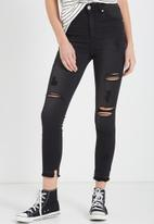 Cotton On - High rise grazer skinny jean- black