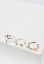 Cotton On - Pearly ring set - rose gold