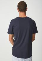 Cotton On - Essential crew neck short sleeve tee - navy
