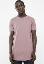 Superbalist - Curved hem longline tee - dirty pink