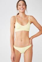 Cotton On - Seamless brazilian bikini bottom - yellow