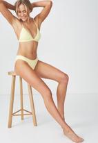 Cotton On - Classic seamless full bikini bottom - yellow