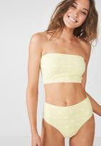 Cotton On - Longline bandeau bikini top - yellow