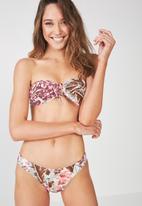 Cotton On - Nixie tie bandeau bikini top - multi