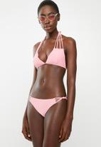 London Hub - Strap bikini set -  pink