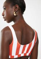 Lithe - Stripe two piece bikini set - red