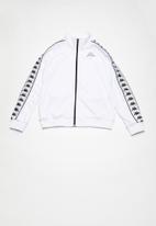 KAPPA - 222 banda anniston slim sweatshirt - white