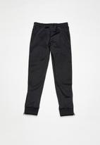 KAPPA - 222 banda rastoria rib slim trackpants - black