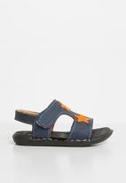POP CANDY - Velcro strap sandal - navy