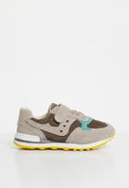 POP CANDY - Kids leather combo strap and lace sneaker - blue