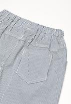 POP CANDY - Stripe printed shorts - blue
