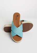 Butterfly Feet - Sama sandals - blue