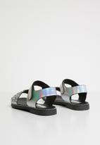 POP CANDY - Glitter metalic sandal - silver