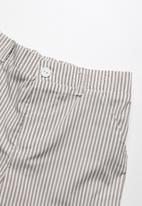 Superbalist - Pocket chino long shorts - brown & white