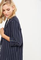 Cotton On - Deconstructed soft blazer - navy & white