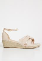 STYLE REPUBLIC - Knotted detail wedges - pale pink