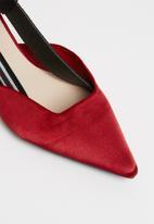 STYLE REPUBLIC - Slingback kitten heels - red