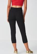 Supré  - Belted slim leg pants - black